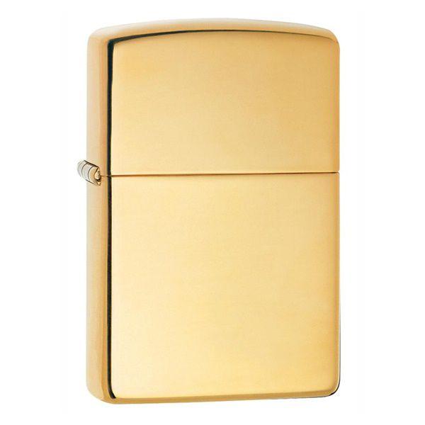 Hộp quẹt Zippo vàng bóng 254B