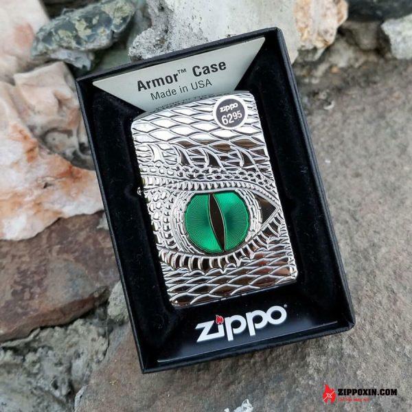 Hộp Quẹt Zippo Mắt Rồng Xanh 28807 - 1